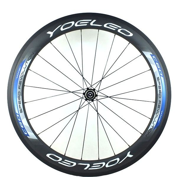 YOELEO U Shape C60-25 Blue Clincher Road Racing Wheelset