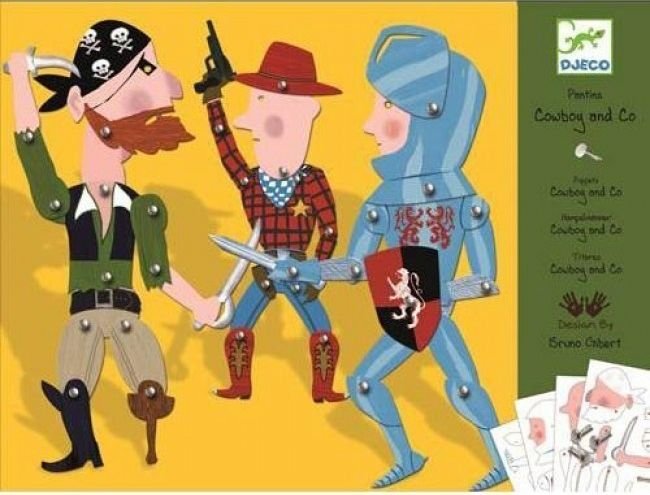 DAY 2 FIND: It's Djeco's Cardboard Finger Puppets Cowboys & Co - yeehah! #Djeco #win #Easter
