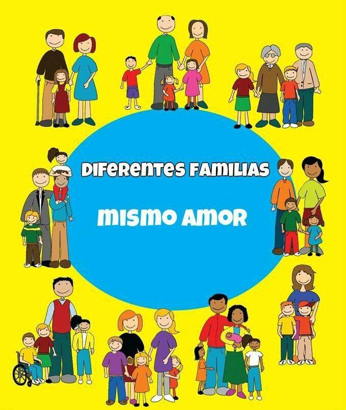 Diferentes familias mismo amor.