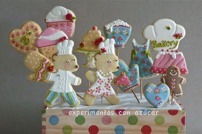 Experimentos con azúcar: Centros galletas y chuches