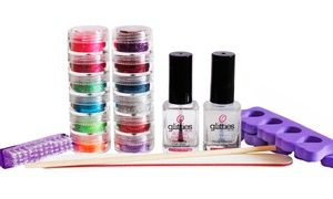 2 HOURS LEFT! Groupon - $ 39 for a One-Year Supply of Do-It-Yourself Glitter Toes Supplies from Glitties Nail Art (55% Value) in Geneva. Groupon deal price: $39