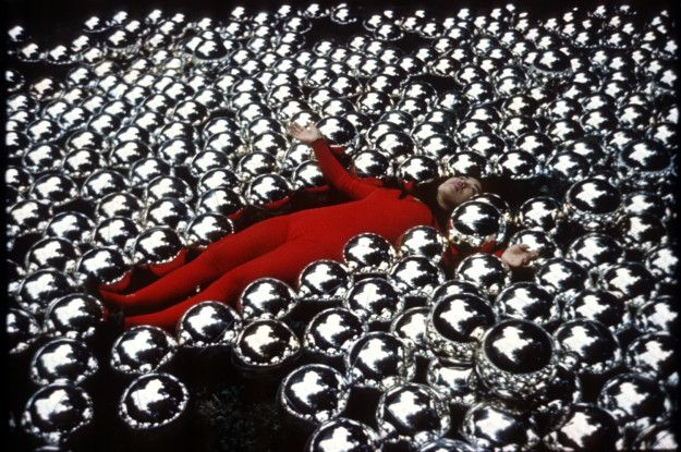 Yayoi Kusama in Narcissus Garden at the Venice Biennial, Italy