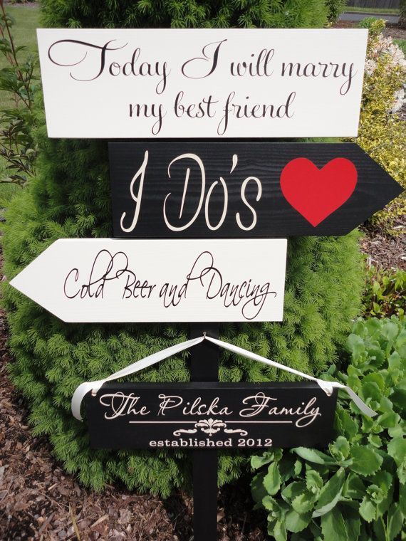 Custom Wedding Signs Wedding Directional