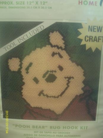 15 Disney Winnie The Pooh Latch Hook Rug Kit 12 Quot X 12