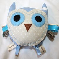 owl tag toy for baby
