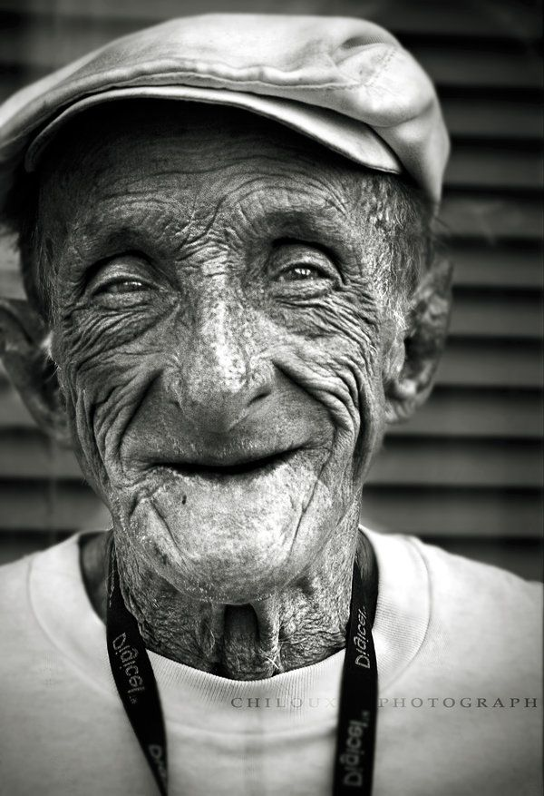 The Happy Man II by ~chilouX    What is it about old people that makes such amazing portraits? Look at those eyes though :) Wow, so much life.