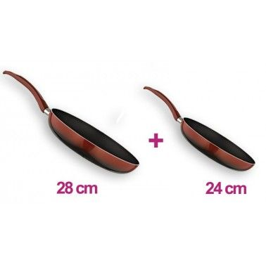 Emsan Rubie 24 Cm Tava + 28 Cm Tava