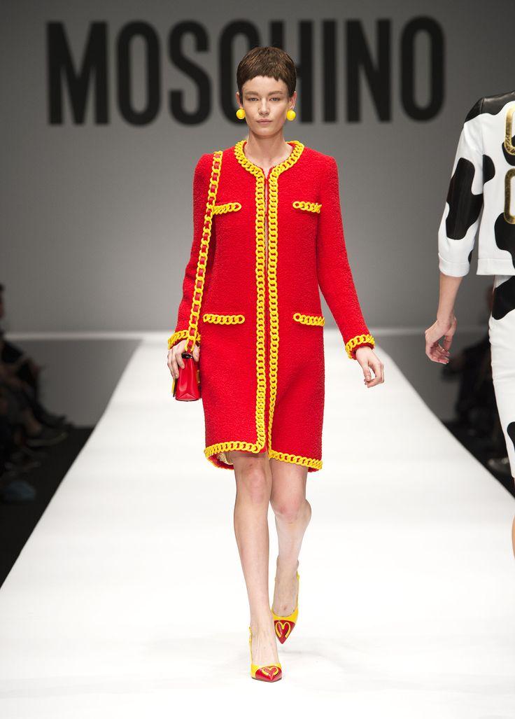 IDDDDDDDDDDDD Moschino Spring/Summer 2014 fashion show - #Moschino - See more on www.moschino.com