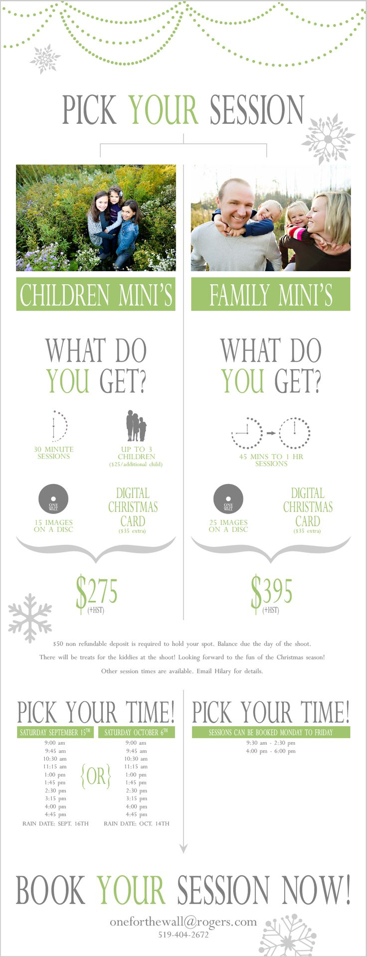 Christmas Mini Sessions Info Graphic www.thedesigntruth.com Like & Repin. Noelito Flow. Noel songs. follow my links http://www.instagram.com/noelitoflow