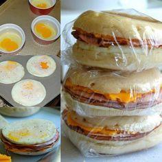 Freezer Breakfast Sandwiches...100's of the BEST Freezer Meals!                                                                                                                                                                                 More