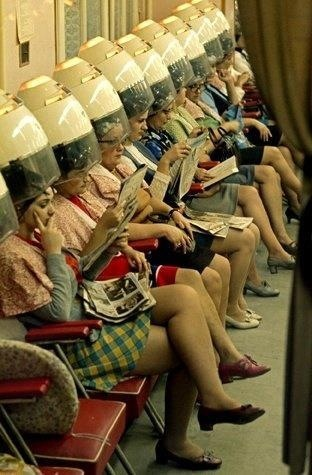 Old fashioned hair dryers: