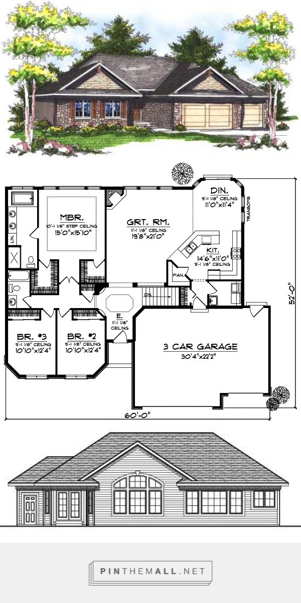 The 25 best 30x40 house plans ideas on pinterest sims 3 for 30x40 garage layout