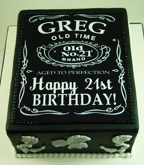 Jack Daniels themed 21st Birthday Cake