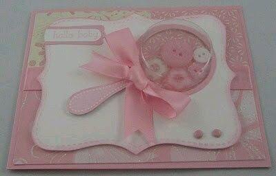 más y más manualidades: Crea tus propias invitaciones para baby shower.