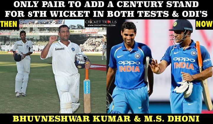 Bhuvneshwar Kumar & MS Dhoni: Then & Now #TeamIndia - http://ift.tt/1ZZ3e4d