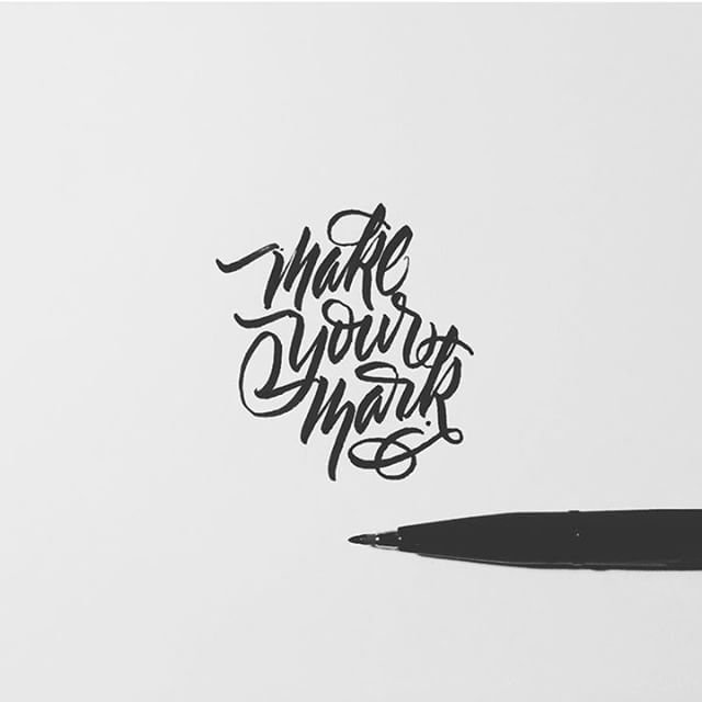 Digital art selected for the Daily Inspiration #2380 #calligraphy