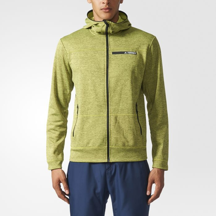 adidas TERREX Climb the City Hooded Fleece Jacket - Mens Outdoor Jackets