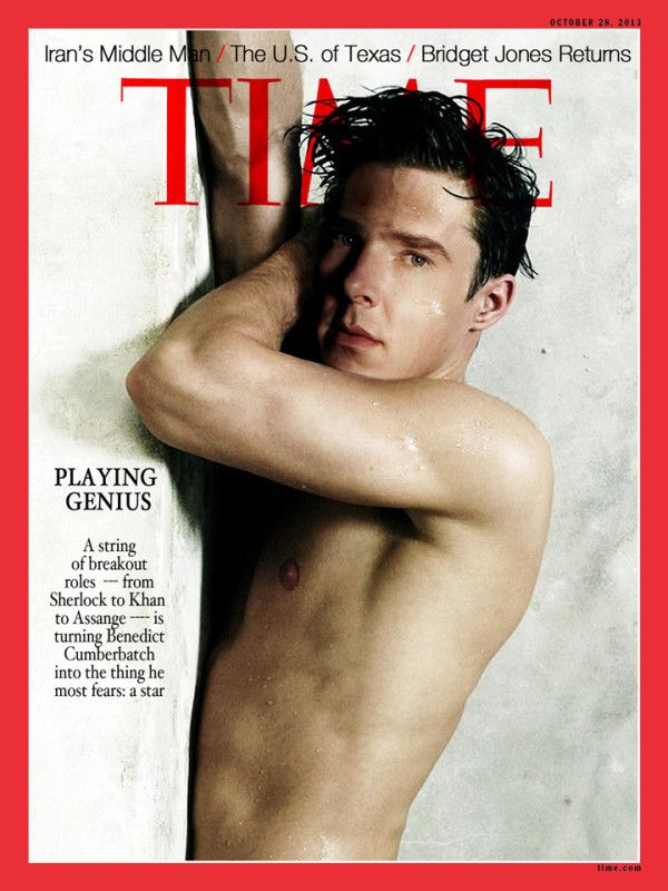 """Can't you just hear the conversation at TIME...""""Mr. Cumberbatch we know you're a serious actor and TIME is a serious magazine but we're going to need you wet and naked."""""""