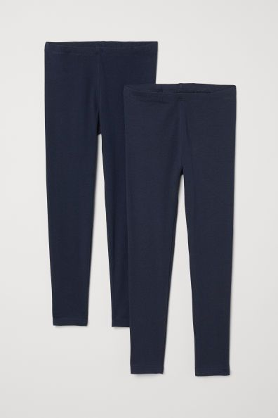 9b8b2dcb25d521 H&M 2-pack Leggings - Blue | Little Girls Clothes | Pinterest ...