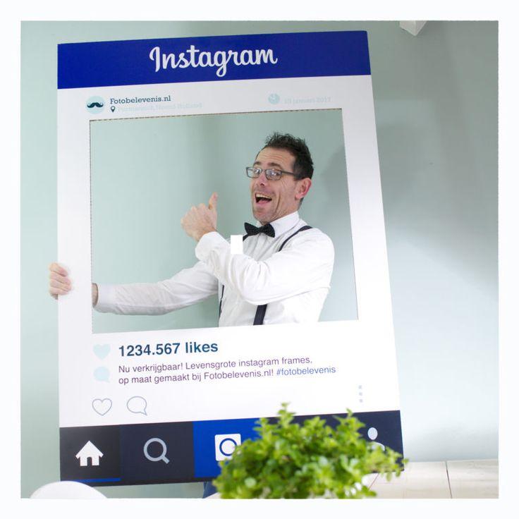 Instagram Frame Fotomarketing De trend van 2017. Dit frame is volledig te personaliseren en te bestellen via: www.Fotobelevenis.nl