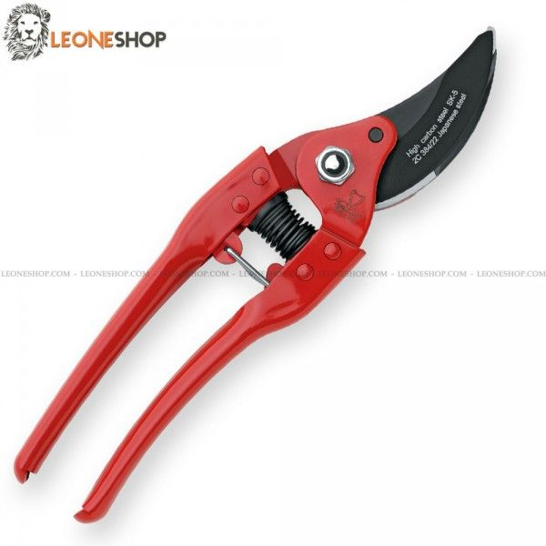 "DUE CIGNI Pruning Shears 2C 384/22, gardening, vineyard scissors and pruning shears of SK5 Japanese Carbon Steel of high quality - Anvil blade with Black Coating surface treatment - Red Steel handles - Security Lock - Overall lenght 8.7"" ​​- 220 mm - Design by Due Cigni Cutlery Italy - DUE CIGNI pruning shears really exceptional with quality materials and an excellent Italian design, superior quality in all the components and also in the finishes."