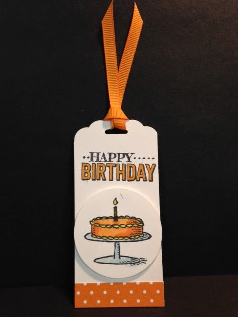 Big Day, Birthday Tag, Stampin' Up!, Rubber Stamping, Handmade Cards, Handmade Tags