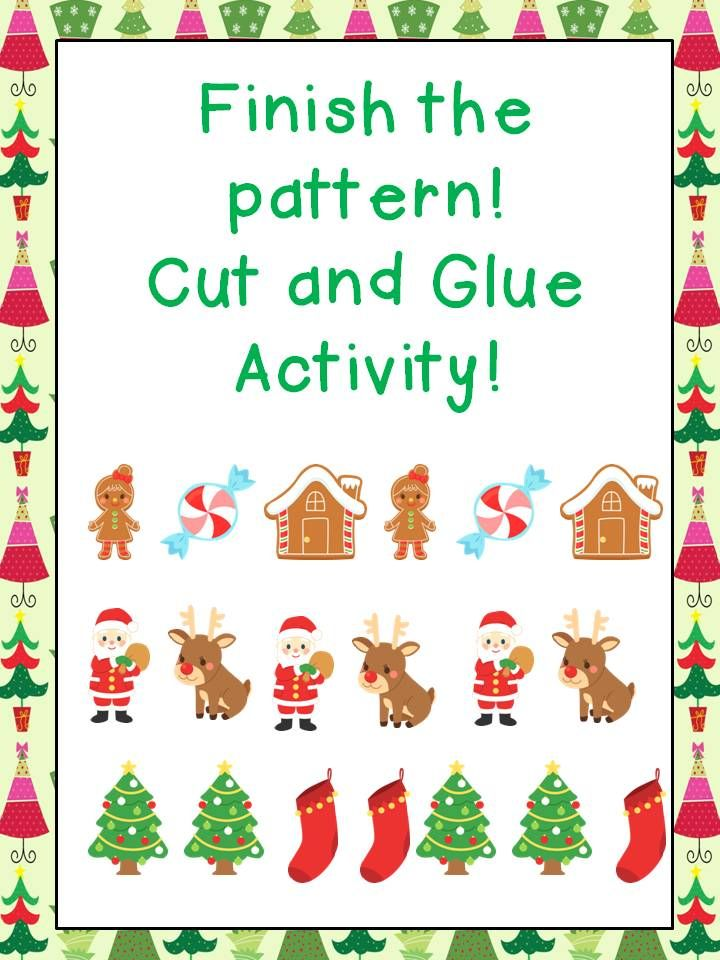 FREEBIE cut and glue pattern activity! Repinned by SOS Inc. Resources pinterest.com/sostherapy/.