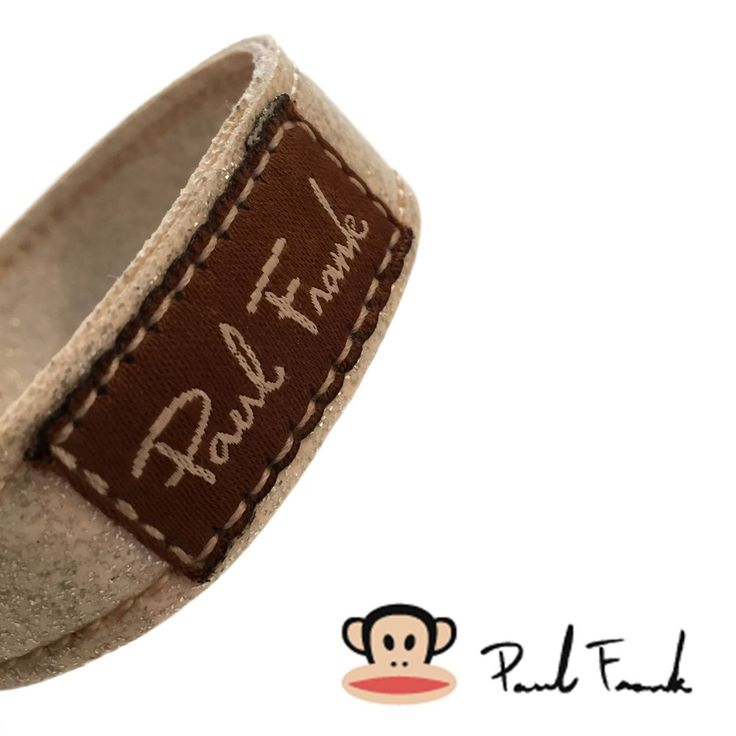 Paul Frank Unisex Cuff Wristband Glazed Βeige/Brown Bracelet Faux Leather _ OS #PaulFrank