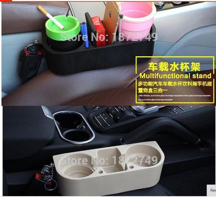 For Nissan Juke Dualis Tiida Livina ALTIMA Qashqai RJ11 GTS X-Trail T32 Rogue Altima Universal Black Car Seat Seam Wedge Cup