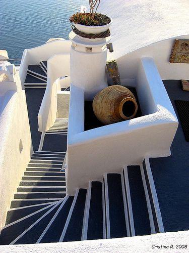 Navy Steps, Santorini, Greece photo by Chis