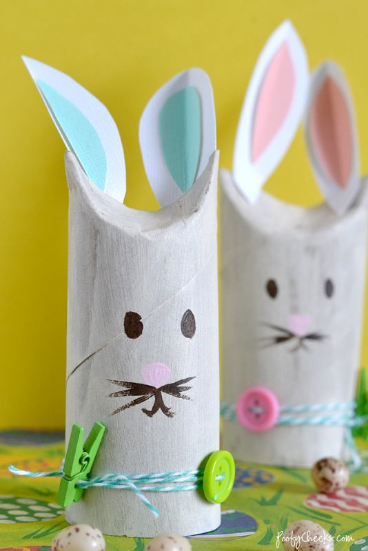 Toilet Paper Roll Bunnies | Easter Ideas | Spring crafts ...