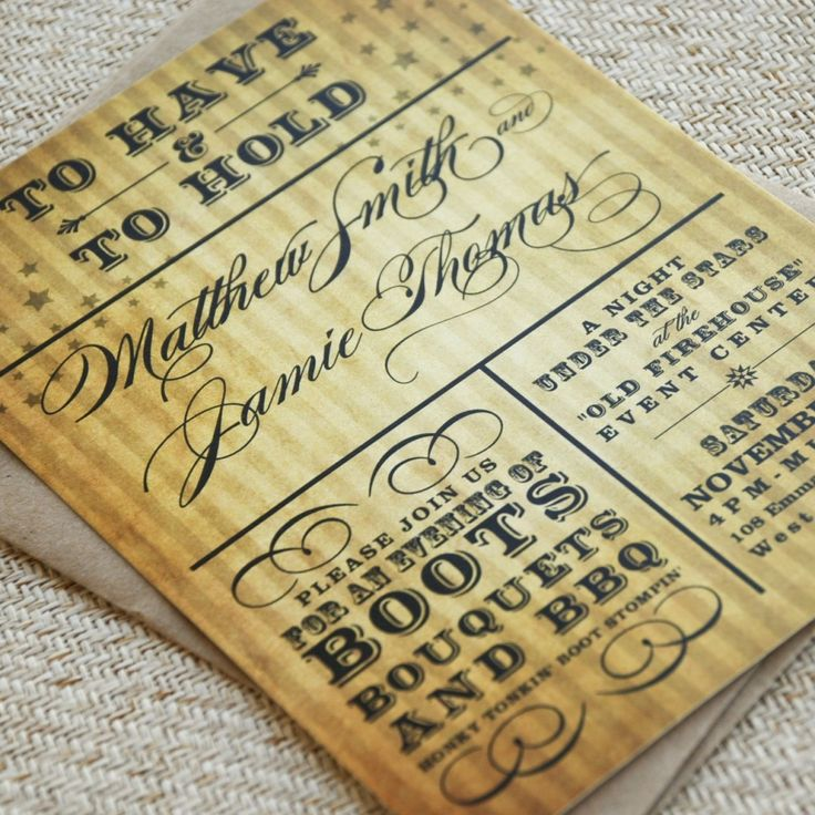 54 best Party Invitations-Western Theme images on Pinterest ...