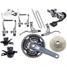 Shimano Deore 610 Groupset V-Brake 3x10-speed - silver - www.store-bike.com