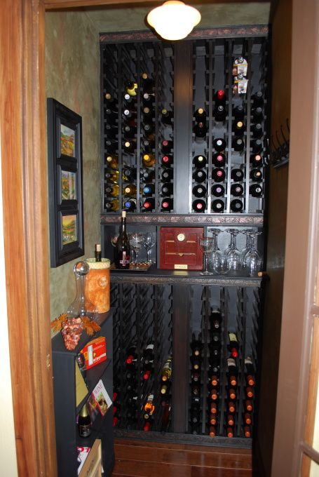 11 best images about wine cellar on pinterest closet for Turn closet into wine cellar