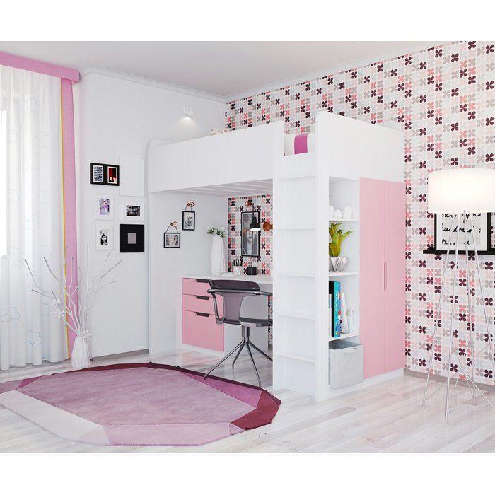 Hochbett Mit Regal Und Schreibtisch Adriana Kinderzimmer