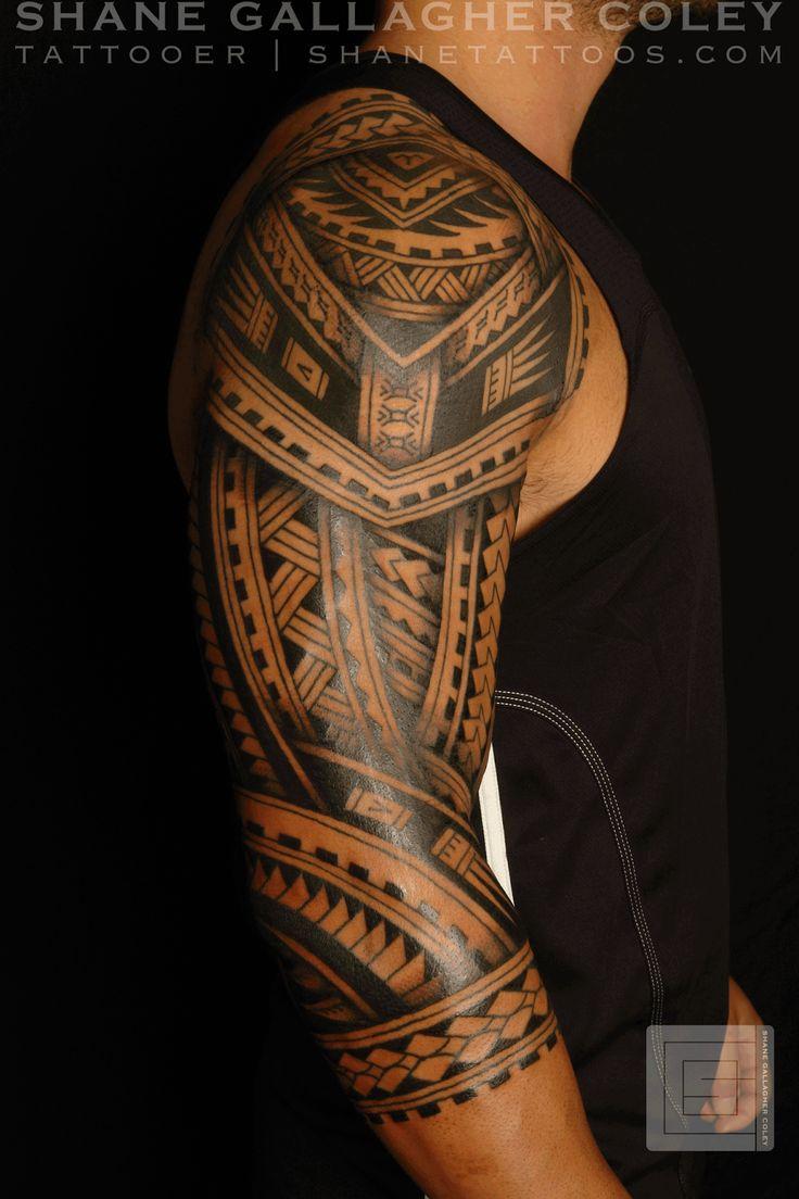 SHANE TATTOOS: Polynesian Sleeve Tatau Tattoo #polynesiantattoosanima