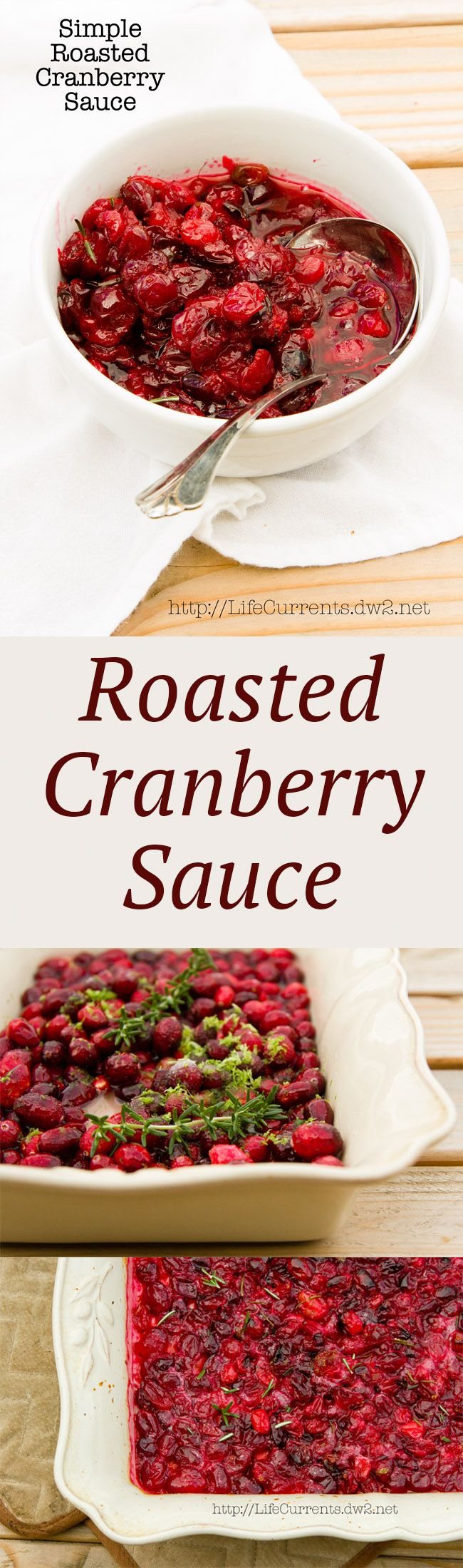 So simple to make, Roasted Cranberry Sauce is my favorite way to make Cranberry Sauce, and it's so delicious!
