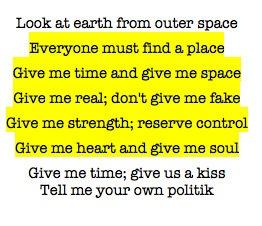 Politik -Coldplay