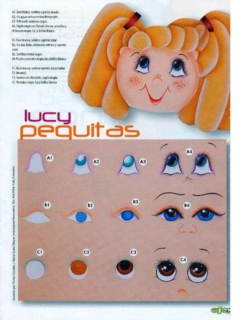 Dibujos y plantillas para imprimir pintado ojos de - Donde comprar pintura para tela ...