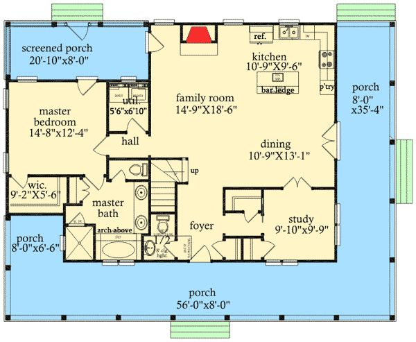 delightful wrap around porch 9742al floor plan main level which doesnt - 2br Open Floor House Plans