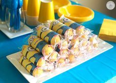 Minion Birthday Party - Games, food, and activities for a minion birthday party. Includes FREE printables!