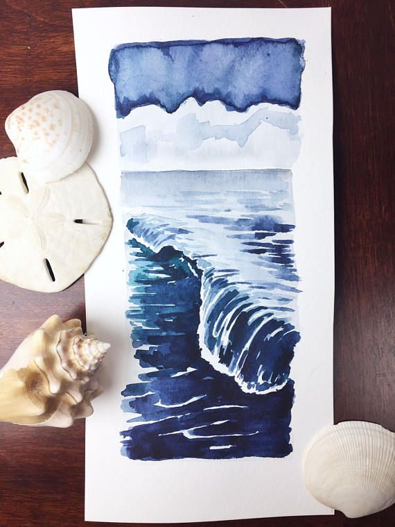 Rhythm & Blues II seascape original watercolor painting
