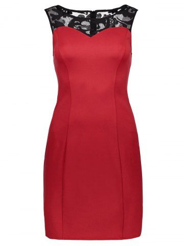 GET $50 NOW | Join RoseGal: Get YOUR $50 NOW!http://www.rosegal.com/bodycon-dresses/lace-panel-sleeveless-fitted-dress-1060291.html?seid=245471rg1060291