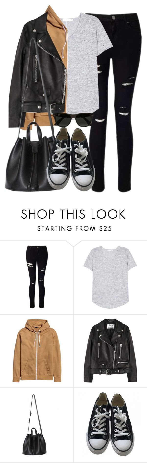 """Style #11513"" by vany-alvarado ❤ liked on Polyvore featuring Miss Selfridge, rag & bone, Acne Studios, Converse and Ray-Ban"