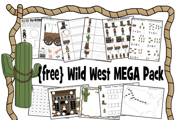 Free Wild West Printable Pack... For all those little cowboys