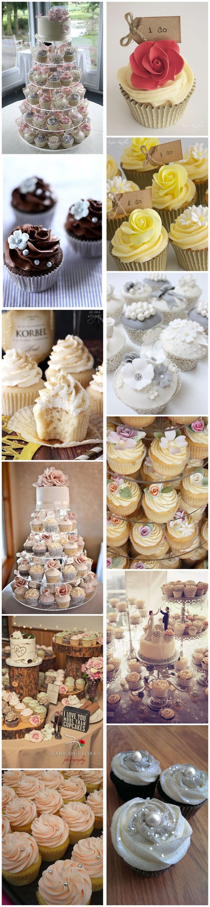 Wedding Cakes » 25 Inpressive Small Wedding Cupcakes with Big Styles❤️ See more: http://www.weddinginclude.com/2017/02/inpressive-small-wedding-cupcakes-with-big-styles/