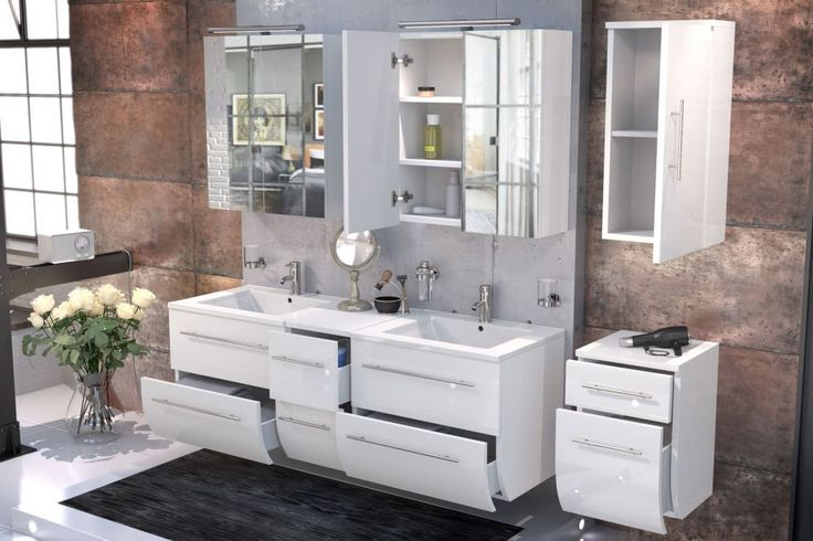 17 best Bad images on Pinterest Bathroom, Bathroom designs and - spiegelschrank badezimmer günstig