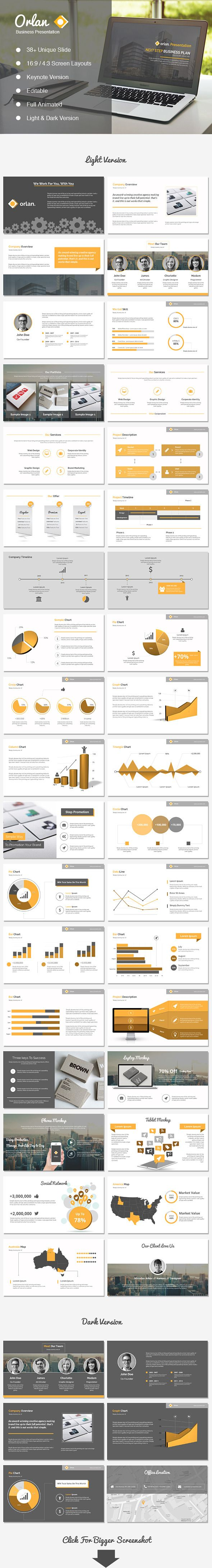 Orlan Keynote Business Presentation | #keynote #keynotetemplate #keynotepresentation | Download: http://graphicriver.net/item/orlan-keynote-business-presentation-/8545775?ref=ksioks