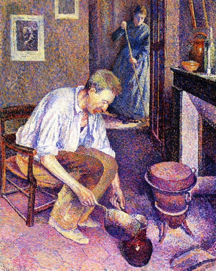 Maximilien Luce - Coffee,1892
