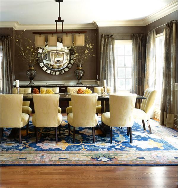 Transitional (Eclectic) Dining Room by Diane Paparo